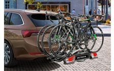 Bicycle rack for tow bars