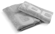 Set Towel and Bath Towel silver