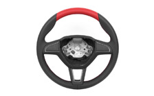Leather steering wheel - without multifunction RAPID