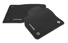 Textile foot mats Prestige for KAMIQ