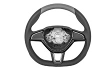 Three-spoke sports steering wheel