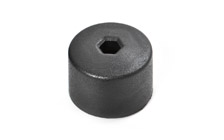Cap for the screws of the wheels - black