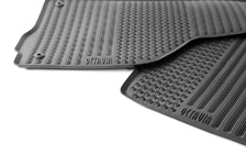 Set of rubber carpets for OCTAVIA II